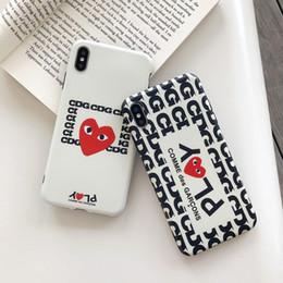 capas de telefone de amor atacado Desconto Wholesale TPU phone case moda para iphone 6s 7 8 p x xs padrão de amor telefone de designer tampa traseira para presentes
