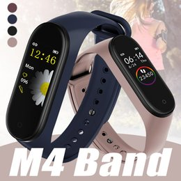 tracker de fitness imperméable à l'eau Promotion Sport Band Bracelet intelligent M4 Blood Pressure Monitor étanche intelligent Wristband Smartband Fitness Tracker montre PK mi bande 3 4