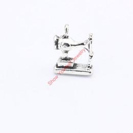 Macchine per fare fascino online-15pcs argento antico placcato macchina da cucire pendenti di fascini per monili che fanno DIY Handmade 15x12mm