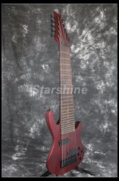 pont fixe de guitare Promotion Starshine 10 Cordes Basse électrique YL-10BR Matt Metal Rouge Noir Matériel Fixe Pont