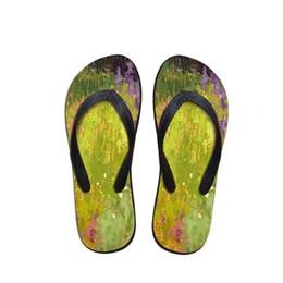 2019 gemalte schuhe entwürfe Design Landschaftsmalerei Herren Flip Flops Strandschuhe Außerhalb Sandalen Flops Sandalen ManSummer Simple Design Flop günstig gemalte schuhe entwürfe