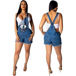 Jeans azul Traje Hip Pop Denim Macacão Para As Mulheres Sexy Calças Bodysuit Trajes de Lantejoulas American Apparel Verão de