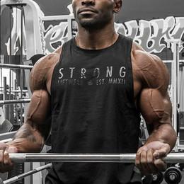 Muscoli serbatoio superiore online-Canottiere senza maniche sportive da palestra per bodybuilding T-shirt sportive da palestra