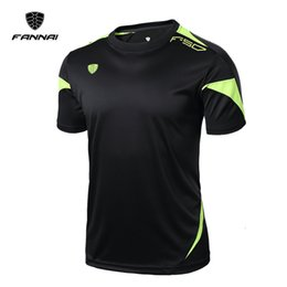 mens hiking shorts Coupons - FANNAI Men Sport Running t Shirt Top Tees Fitness Mens Gym Shirt Quick Dry training shirts Fashion Short sleeve Style Custom