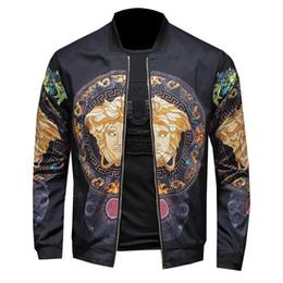 модные дизайнерские куртки Скидка 2019 новая модная куртка высокого качества роскошные тонкие и легкие повседневные высококачественные тонкие мужские дизайнерские куртки плюс M-6XL