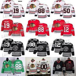 2020 clark griswold hockey jersey Chicago Blackhawks Jersey 19 Toews 88 Kane 12 Alex DeBrincat 77 KIRBY DACH 50 Corey Crawford 00 Clark Griswold Hockey-Trikots günstig clark griswold hockey jersey