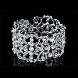 Canada Demoiselle d'honneur mariée mariage pageant parti Art déco Vintage Style Crystal Bangle CB0084 Offre