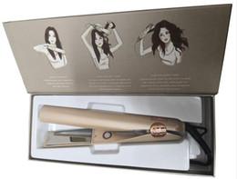 Enrolar o cabelo on-line-Nova da escova de cabelo Straightener Ferro Ceramic 2 em 1 Alisamento Curling Irons modelador de cabelo UE US UK plug Geração 1 2