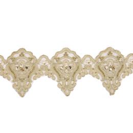 2019 transferências de diamante para asas New Fashion White Flower Rose Lace Fita Tecido Bordado Applique Nupcial Costura Craft Vestido De Casamento Para Todos