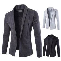 2019 slim fit herren sweatshirts Mens Gestrickte beiläufige Strickjacken Herbst Frühling V-Ausschnitt Slim Fit Pullover Sweatshirts günstig slim fit herren sweatshirts