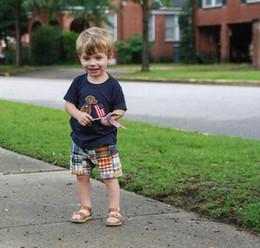 día de ropa casual Rebajas Nuevo Día de la Independencia Verano Juegos para niños Ropa para niños Conjuntos camiseta linda + pantalones cortos Juegos para niños ropa de diseñador para niños casual ropa para niños A4586