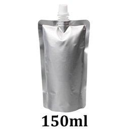 Canada Sac de poche de bec de papier d'aluminium de catégorie comestible de papier d'aluminium de l'argent 150ml Offre