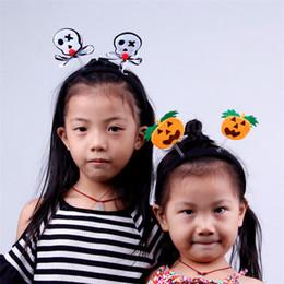 2019 ballons souriants Nouveau style Halloween citrouille araignée Tête Cerceau Pour Enfants Performing Headwear Père Noël cheveux lumineux cerceau T9I00101