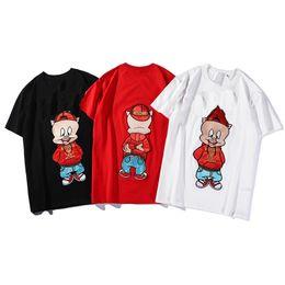 Diseñador Hombres Camiseta de lujo Patrón de dibujos animados lindo Camiseta ocasional de la marca Cuello redondo Manga corta Diseño de lujo Camisas Marca Camiseta de verano desde fabricantes