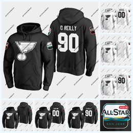 hoodies st louis Promotion 90 Ryan O'Reilly Sweat à capuche des joueurs 2019 de St. Louis Blues 2019 Joel Edmundson Vladimir Tarasenko Jake Allen Chandail David Perron Brayden Schenn