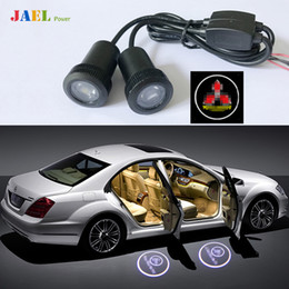 2019 led luce fantasma 2PCs Porta LED Ghost Shadow Light Cortesia Proiettore Laser Proiettore Luci pozzanghera Custodia per logo Mitsubishi led luce fantasma economici