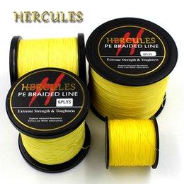 líderes de aço inoxidável Desconto Hercules 100M 300M 500M 1000M 1500M 2000M PE Amarelo Spectra 8 Strands 10lb-200lb Ocean Boat Fishing trançado Linha de pesca