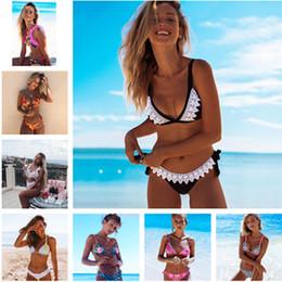 135628e240 New Hot Floral Print Bikini Sets Women Sexy Retro Leopard Maillot de Bain  Ruffles Bandage Padded Monokini Swimsuit Beach Wear