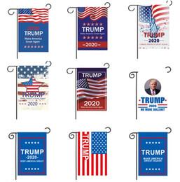 confeti de plata al por mayor Rebajas 2020 Donald Trump Garden Flag 30 * 45 CM Fashion Make America Great Again Garden Flag Party decoración del hogar 6001