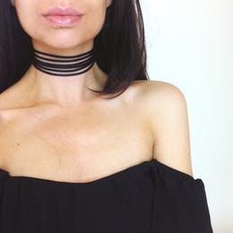 Economici chokers neri online-Vendite calde Retro Black Chokers Collane di moda per le donne Accessori moda gotica ragazze Cheap Corea del sud Materiali in velluto all'ingrosso