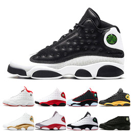 Nero hi top scarpe da ginnastica online-Top 13 Scarpe da Basket da uomo MTLC GOLD He Got Game nero rosso bianco Altitude oliva Grigio Punta Chicago DMP Sport Designer Athletics Sneakers