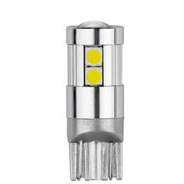 Яркий smd led 12v автомобиль онлайн-10 шт. T10 светодиодные лампы W5W светодиодные лампы Автомобильные фары Интерьер супер яркий 5 Вт 10 3030 SMD 194 168 12 В 6000 К Белый Оранжевый сигнал поворота