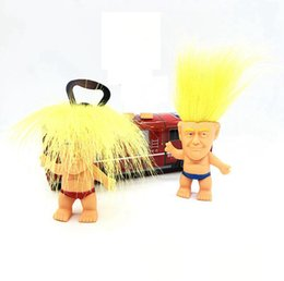 funny novelty toy doll Coupons - 2020 Donald Trump Bottle Opener Precident Figure Dolls Novelty Cartoon Beer Openers Troll Doll Toys Funny kitchen Tool 150pcs AAA2248