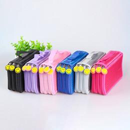 Bolsa de tela de papelería online-Caja de lápiz de la escuela de Oxford Tela 52 Agujeros Caja de lápiz de gran bolso de la pluma de la caja Multi Niños multifunción de escritorio de la bolsa