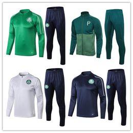 2019 grüne sportkleidung 2019 Palmeiras Fußballjacke Trainingsanzug Set 19/20 GREEN DUDO G.JESUS ALECSANDRO Palmeiras Fußballjacke Kit Sportbekleidung Anzug günstig grüne sportkleidung