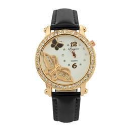 Женские часы ремень онлайн-2019 Elegant Crystal Women Watches Ladies Quartz Watch  Women Metal Quartz-watch Lether Belt Dial With Diamond Female