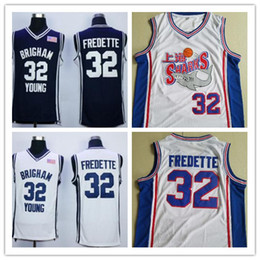 395f1f514f5 NCAA Brigham Young Cougars Jimmer Fredette College Basketball Jersey Navy  Blue White Jimmer Fredette Shirts Shanghai Sharks Jerseys