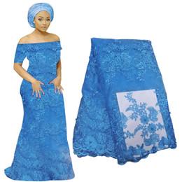 vestidos de fiesta de tela de encaje Rebajas La última tela francesa del cordón 3D materiales africanos del cordón de la gasa para el banquete de boda bordado floral tela del vestido de encaje nigeriano BF0005