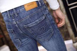 collant ricamati all'ingrosso Sconti 2019 nuovi jeans da uomo di alta qualità