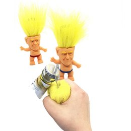 funny novelty toy doll Promo Codes - 2020 Donald Trump Bottle Opener Precident Figure Dolls Novelty Cartoon Beer Bottle Openers Troll Doll Toys Funny kitchen Tool AAA2248