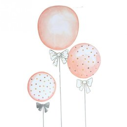 Décor de salle de montgolfière en Ligne-Style nordique DIY Hot Air Balloon Sticker Mural Pour Enfants Chambres Art Fond Autocollants Muraux Home Decor Salon Chambre Stickers Muraux