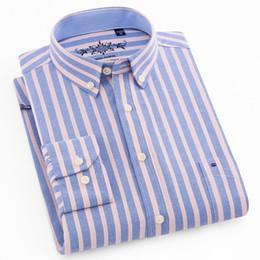 платье с ящиками Скидка Мужская с длинным рукавом плед/полосатый Оксфорд Платье рубашка один патч карман с коробкой плиссированные обратно кокетка регулярные подходят кнопки вниз рубашки