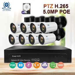 nuit caméra ptz Promotion ZSVEDIO Surveillance 8CH H.265 PTZ 5.0MP POE 4X Zoom Kit NVR Système de vidéosurveillance IP Caméra Extérieure Sécurité Vidéo Set Night Vision DIY