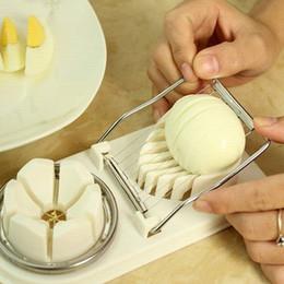 2019 plastik-eierschneider 2in1 Eierschneider Cutter Egg Mold Multifunktionsschneider Obstschneider Küchenhelfer Kunststoff Basis Edelstahl Schneiden Drahtschneiden Neu günstig plastik-eierschneider