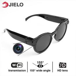 Lunettes de soleil full hd en Ligne-4K caméra numérique sport lunettes intelligentes WiFi caméra HD lunettes DVR enregistreur vidéo 1080P Snapshot Camera Sun Lunettes d'équitation en gros