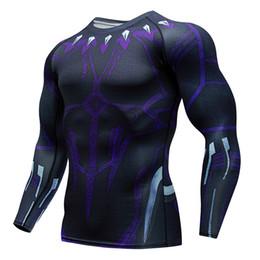 Camisas de manga longa de super-herói on-line-Super-heróis da Marvel Camisa de Compressão Das Mulheres Dos Homens de Ciclismo Camadas de Base de Bicicleta de Manga Longa Camisa Altamente Breathbale Roupa Interior Jersey