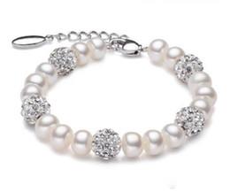 2019 schöne silberne armbänder für mädchen Echte schöne Süßwasser Perlen Armband Frauen Hochzeit Zuchtperlen Armband 925 Silber Jewlery Mädchen Geburtstagsgeschenk günstig schöne silberne armbänder für mädchen