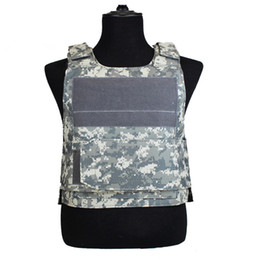 men tactical vest Promo Codes - Camouflage jungle army fans tactical vest equipment combat protection mens battle swat train armor sleeveless jacket