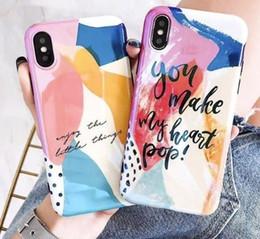 Art Graffiti Téléphone Cas Pour Iphone X Cas Pour Iphone 6 6s 7 8 Plus De Luxe Blu-ray Couverture Brillant De Bande Dessinée Cas Capa ? partir de fabricateur
