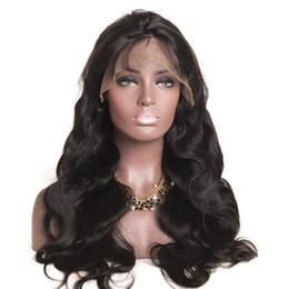 """Weiches, welliges haar online-Reine Brasilianische Körperwelle Haar Volle Spitzeperücken # 1 # 1B # 4 130% Menschenhaar Glueless Volle Spitzeperücke Weiche Wellenperücken 10 """"-30"""""""