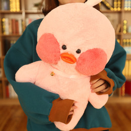 stuffed plush yellow duck Coupons - 50cm Big Size Lalafanfan Plush Stuffed Toys Kawaii Cafe Mimi Yellow Duck Plush Toys Girls Lovely Decoration For Children