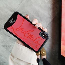 Luxus rote turnschuhe boden designer telefon silikon case für apple iphone 7 7 plus 8 6 6 s plus x xr xs max abdeckung für i phone x xs xr max case von Fabrikanten