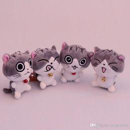 bambole decorative all'ingrosso Sconti Cat Meow Collection Formaggio gatto Giocattoli di peluche gatto di cartone Animali di peluche 8 cm / 10 cm per bambini Regalo di Natale a casa portachiavi