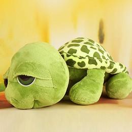 Baby schildkröte plüschtier online-Chriatmas 20cm füllte Plüsch-Tiere Super Green Big Eyes Stuffed Schildkröten-Schildkröte Tier-Plüsch-Baby-Spielzeug-Geschenk WY COTTON
