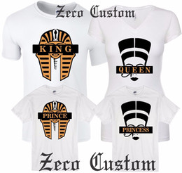 0a3d37523 Couple Matching Love T-Shirts King And Queen PRINCE His Her Cleopatra  Egyptians Men Women Unisex Fashion tshirt Free Shipping black