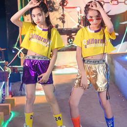 Hip-hop-tanzschule online-Mode Mädchen Tanzkostüme Hip Hop Kleidung Für Mädchen Jazz Dance School Performance Street Clothing Kinder Bühnenkostüm BL1268